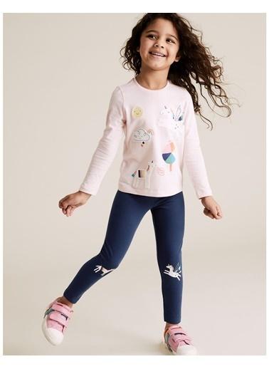 Marks & Spencer 3'lü Unicorn Desenli Tayt Seti Renkli